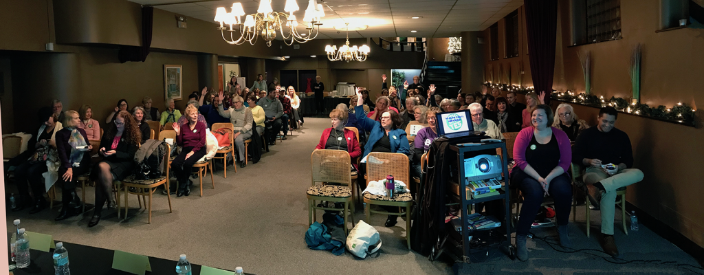 Equal Rights Amendment Informational Forum at the Rockford Women Club in 2017