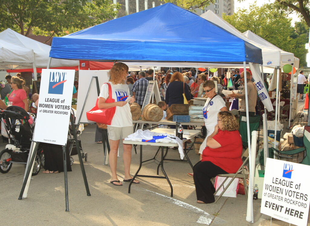 League of Women Voters of Greater Rockford participates in many activities.