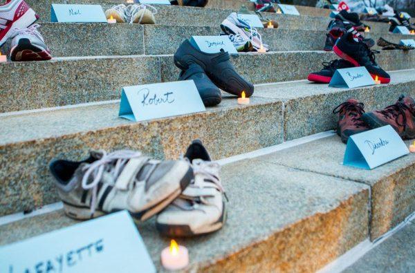 Gun Violence Victims Shoes Vigil, ©Lincoln, NB Journal-Star