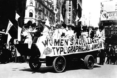 Union Women in Labor Day Parade