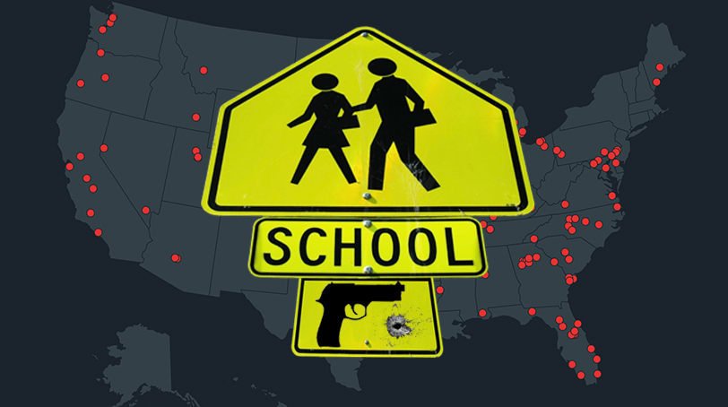 School Shootings Sign