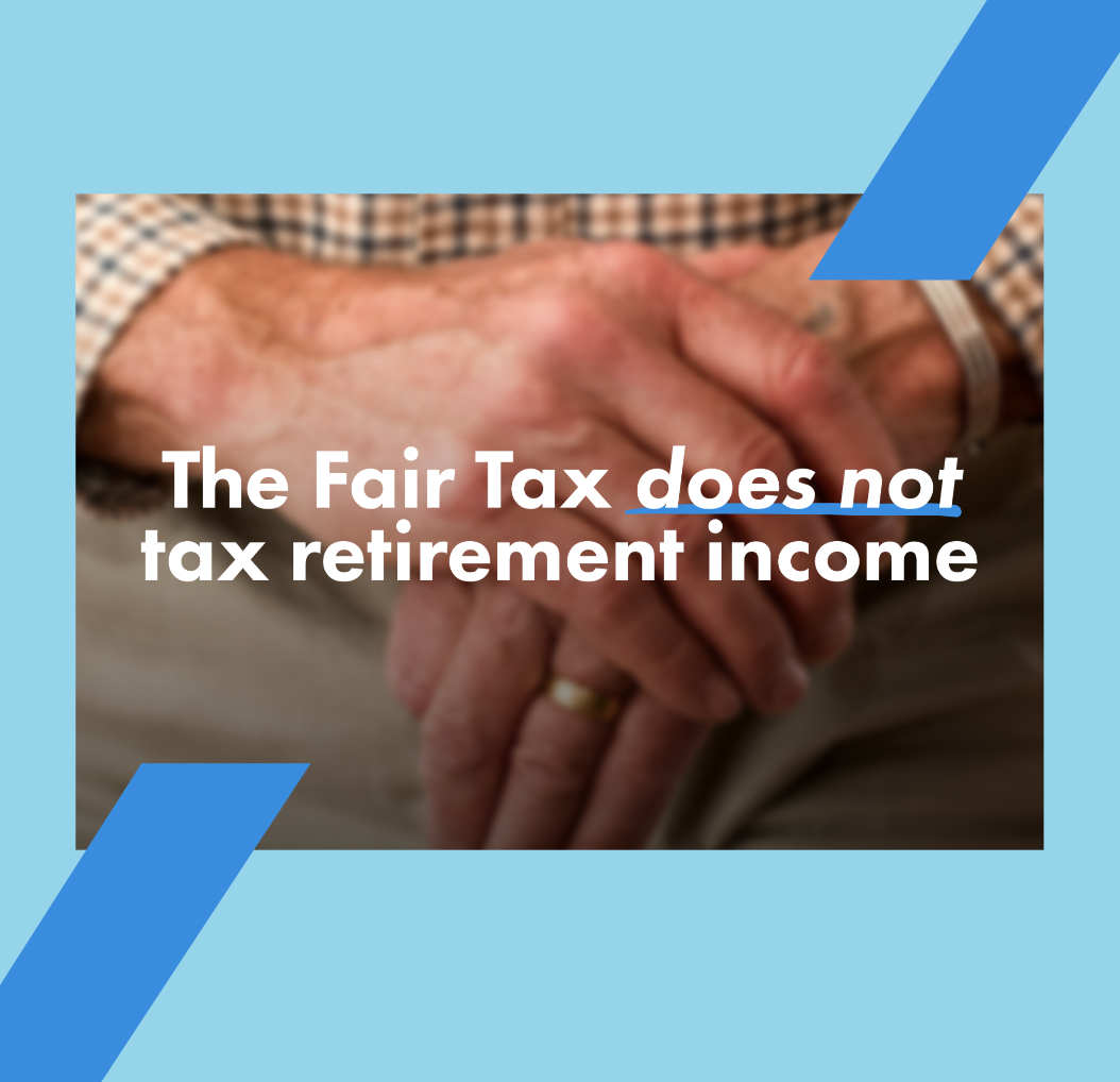 The Illinois Fair Tax does not tax retirement income.