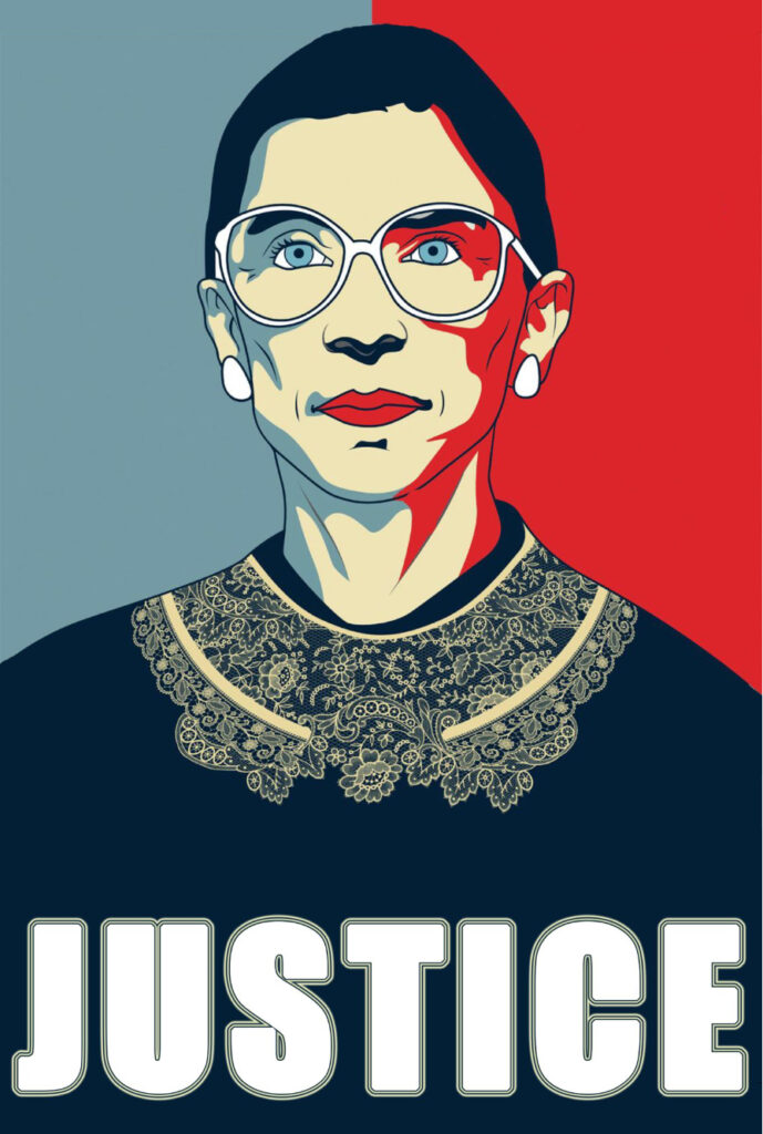 Portrait of Justice Ruth Bader Ginsburg from the documentary made in 2018.