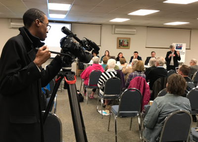 LWVGR public forums cover elections and issues of community interest. Gun violence prevention forum, 2019.